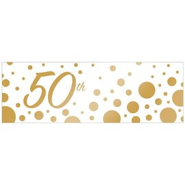 Banner Plastic -  50th - Sparkle and Shine-20inx60in