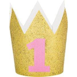 Hat - Crown Mini Gold Pink # 1