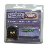 Costume Accessory-Fangs with Blood-1pkg