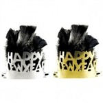 Tiara-New Year-Feather & Paper-Black & Gold