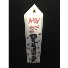 Award Ribbon-My 2nd Birthday-8.25''