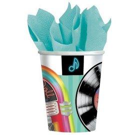 Cups-Sock Hop-Paper-9oz-8pk - Discontinued/Final Sale