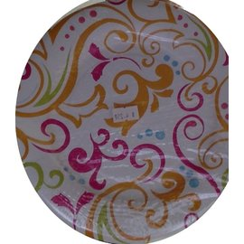 Plates-BEV-Spring Scrolls-8pkg-Paper (Discontinued/Final Sale)