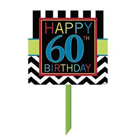 Sign-Yard - Happy 60th Birthday-14'' x 25''