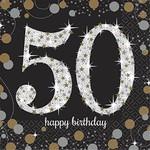 Beverage Napkins-Sparkling Celebration 50