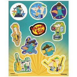 Stickers-Phineas and Ferb-4 Sht  (Discontinued)