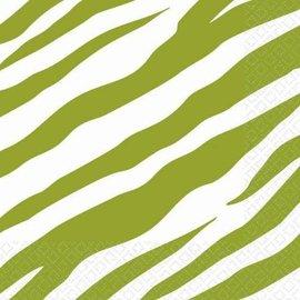 Napkins-BEV-Avocado Zebra-16pk-2ply (Discontinued/Final Sale)