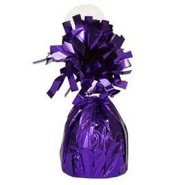 "Balloon Weight-Foil-Purple-1pkg-4.5""x2.25"""