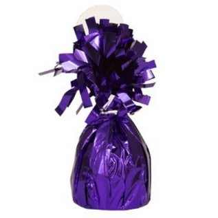 "Balloon Weight-Foil-Purple-1pkg-4.5""x2.25"""