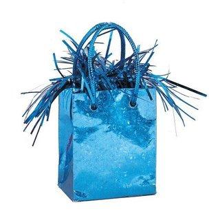 """Balloon Bag Weight-Baby Blue-1pkg-3""""x2.5"""""""