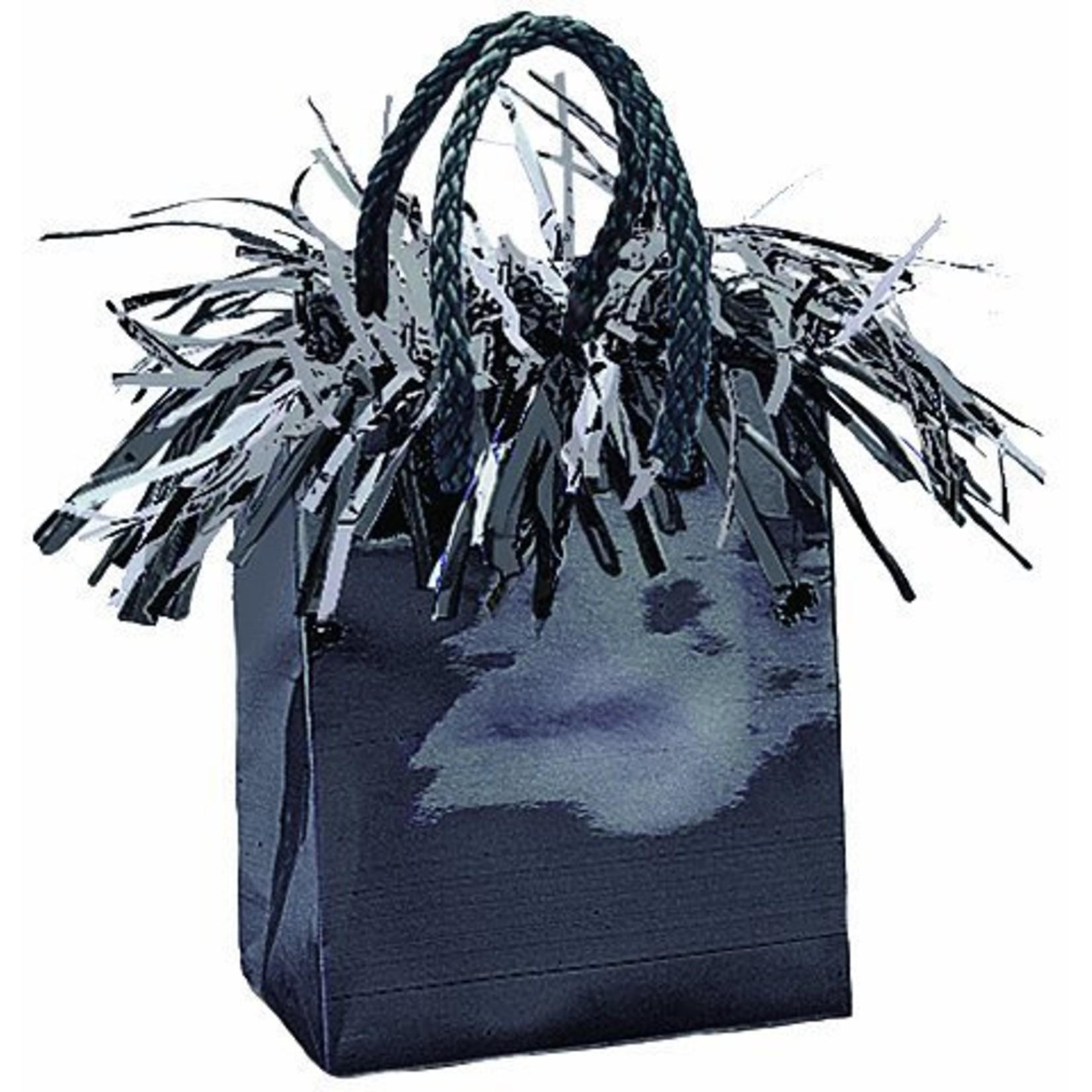 "Balloon Bag Weight-Black-1pkg-3""x2.5"""