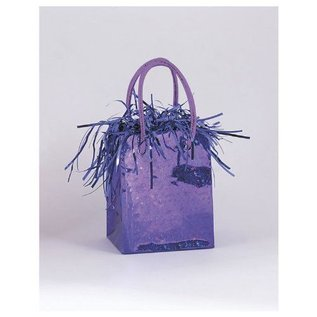 "Balloon Bag Weight-Purple-1pkg-3""x2.5"""