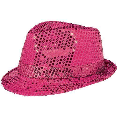 279ad67d4 Fedora Hat-Sequin Pink-Sparkle-Fabric & Foil(1pk)
