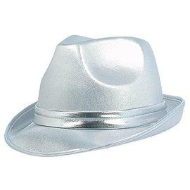 Fedora Hat-Silver-Fabric