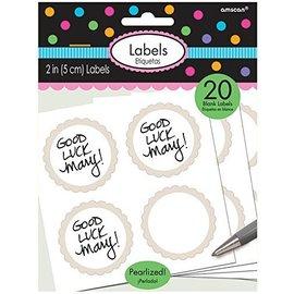 Labels-Scalloped-Pearl White-20pk/2''