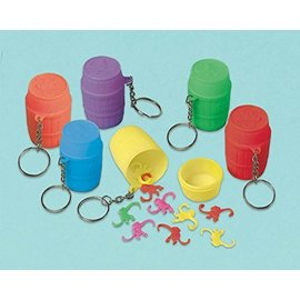 Party Favors- Monkey Game Keychain-12pk