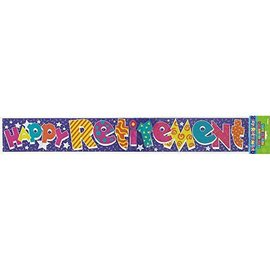 Banner-Happy Retirement-12Ft-Foil