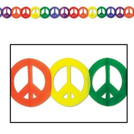 Garland-Tissue-Peace Sign-1pkg-12ft