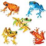 "Cutouts-Mini Colorful Frogs-10pkg-4.5"""
