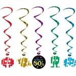 """Danglers-Foil Swirl-Totally 80's-5pkg-34""""-40"""""""