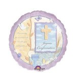 "Foil Balloon - Joyous Confirmation Cross - 18"""