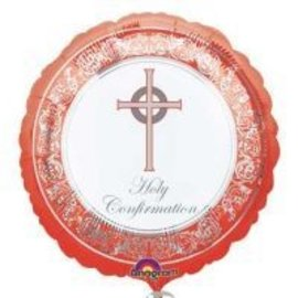 Foil Balloon - Red Holy Confirmation - 18""