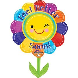 "Foil Balloon - Jumbo - Feel Better Soon Flower - 21""x29"""