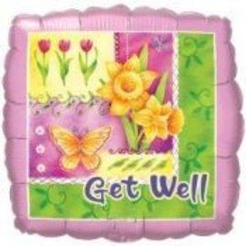 """Foil Balloon - Get Well Flower Garden - 18"""""""