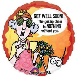Foil Balloon - Maxine Get Well Soon - 18""
