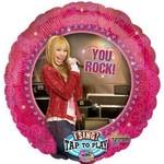"Foil Balloon - Singing - Hannah Montana You Rock - 28"""