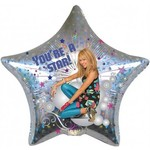 "Foil Balloon - Hannah Montana You're a Star - 19"""