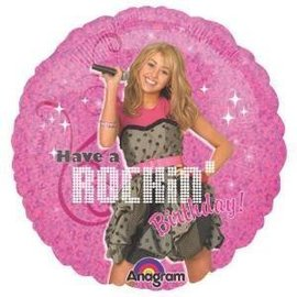 Foil Balloon - Hannah Montana Birthday - 18""