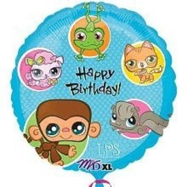 Foil Balloon - Littlest Pet Shop Birthday - 18""