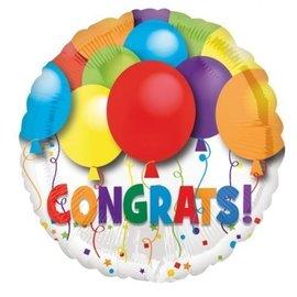 """Foil Balloon - Festive Congrats - 18"""""""
