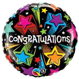 "Foil Balloon - Congratulations Shooting Stars - 18"""