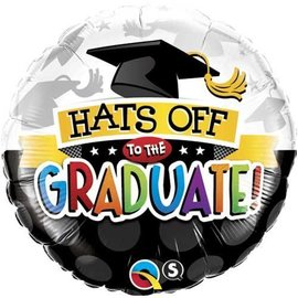"""Foil Balloon - Hats Off To The Graduate - 18"""""""
