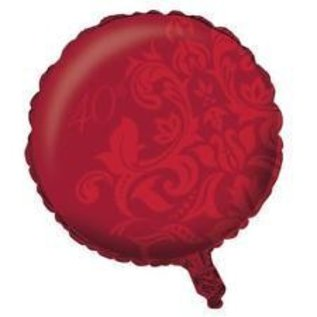 Foil Balloon - Ruby Red 40th Anniversary - 18""