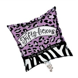 Foil Balloon - Fifty-Licious Zebra Print - 18""