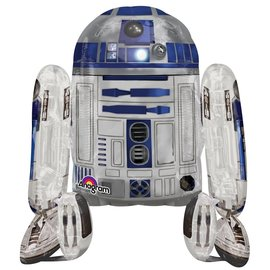 "Foil Balloon - Airwalker - Star Wars R2-D2 - 34""x38"""