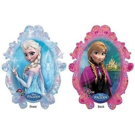 "Foil Balloon - Frozen Anna and Elsa - 25""x31"""