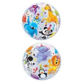 """Plastic Bubble Balloon-Jungle Animals-1pkg-22"""""""