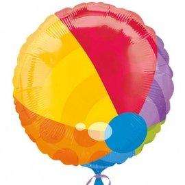 """Foil Balloon - Colorful Beach Ball - 18"""""""