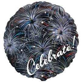 Foil Balloon - Celebrate Fireworks - 18""