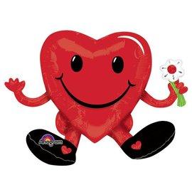 Foil Balloon - Supershape - Sitting Smiling Heart