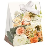 Favor Bags-Rose Gold Bouquet-Paper-4.4''x3.4''x1.5''-12pk