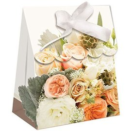 Favor Bags-Rose Gold Bouquet-Paper-4.4''x3.4''x1.5''-12pk