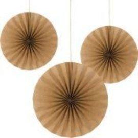 Paper Fans-Kraft-3pk/16'' ,12''