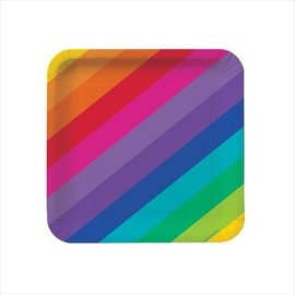 Plates LN-Rainbow (8pk) - Discontinued