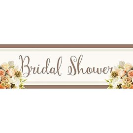 Banner-Bridal Shower-Rose-Plastic-60''x20''