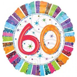 "Foil Balloon - 60 Radiant Birthday - 18"""
